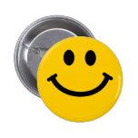 Botón sonriente de la insignia pins