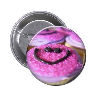 botón sonriente de la magdalena pin redondo de 2 pulgadas
