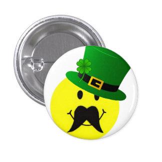 Botón sonriente del bigote del Leprechaun Pin