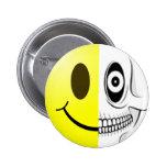 Botón sonriente del cráneo pins