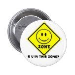 Botón sonriente/feliz de la cara - muestra de la z pins