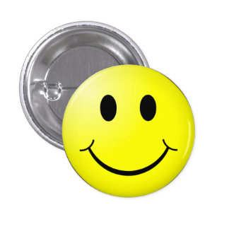 Botón sonriente feliz de la cara pin redondo de 1 pulgada