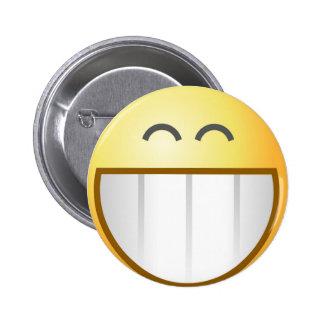 Botón sonriente gigante pin
