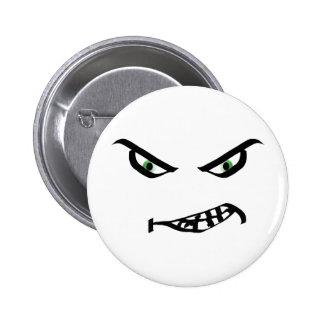 Botón sonriente grunón de la cara pin redondo de 2 pulgadas