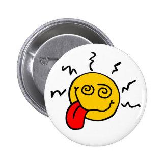 Botón sonriente loco pins