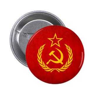 Botón soviético de la bandera