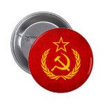 Botón soviético de la bandera pin