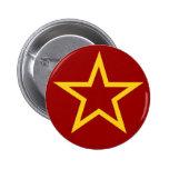 Botón soviético de la estrella de la bandera
