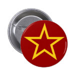 Botón soviético de la estrella de la bandera pin
