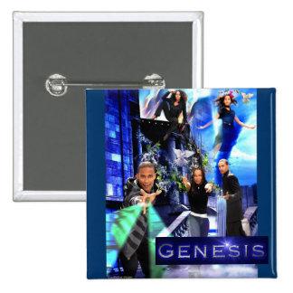 """Botón SQ de la """"génesis"""" - el logotipo de Javier Pin Cuadrado"""