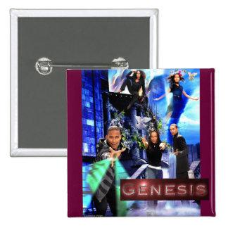 """Botón SQ de la """"génesis"""" - el logotipo de Xander Pin Cuadrado"""
