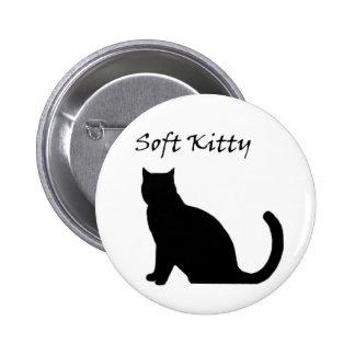 Botón suave del gatito pin redondo de 2 pulgadas