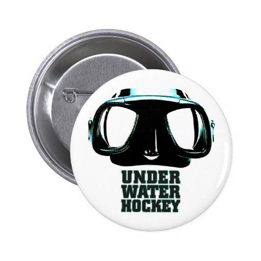 Botón subacuático del hockey pin redondo de 2 pulgadas