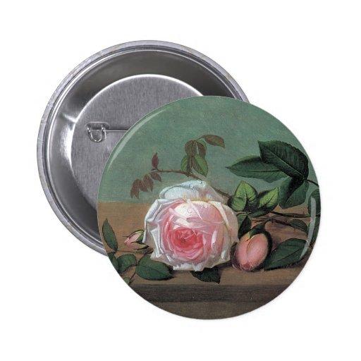 Botón subió rosa floral de la bella arte