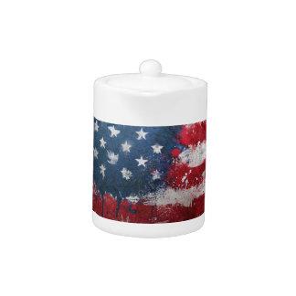 Botón sucio de la bandera americana