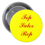 Botón superior del representante de las ventas pin