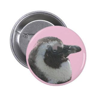 Botón surafricano del personalizable del pingüino pin redondo de 2 pulgadas