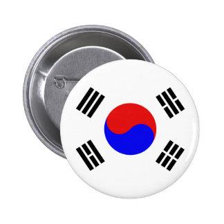 Botón surcoreano de la bandera pins