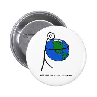 Botón Tan-Amado Pin Redondo De 2 Pulgadas