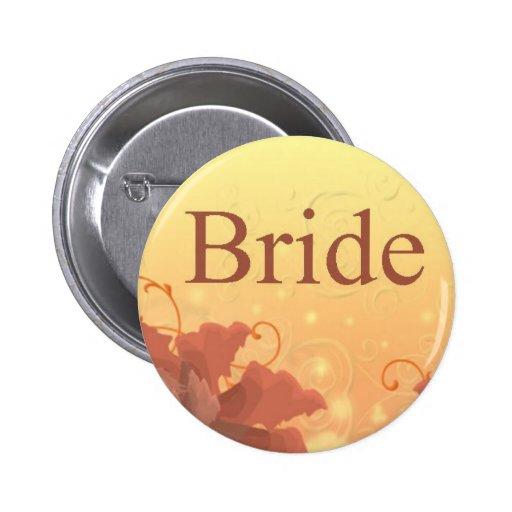 Botón temático de la novia de la caída pins
