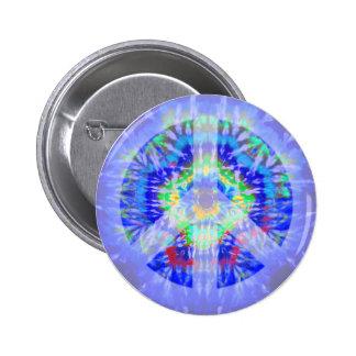 Botón teñido lazo del signo de la paz