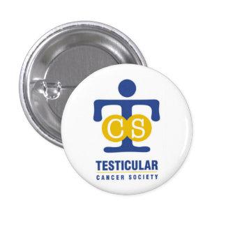 Botón testicular de la Sociedad del Cáncer Pin Redondo De 1 Pulgada