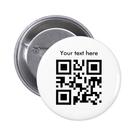 Botón (texto de encargo) pin redondo de 2 pulgadas