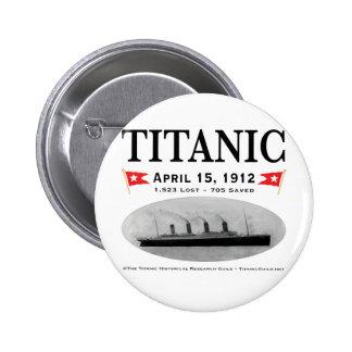 Botón titánico de la nave del fantasma (redondo) pin redondo de 2 pulgadas