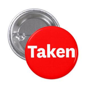 Botón TOMADO Pin Redondo De 1 Pulgada