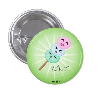 Botón tonto de la bola de masa hervida de Dango Pin Redondo De 1 Pulgada