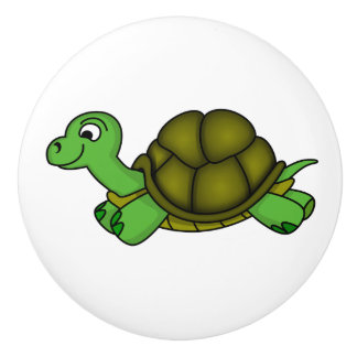 Botón/tortuga de cerámica pomo de cerámica