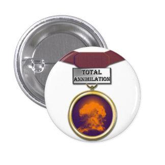 Botón total de la medalla de la aniquilación