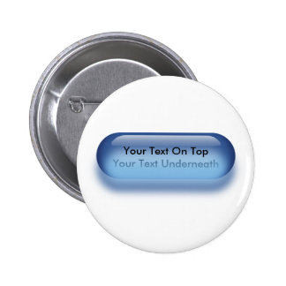 Botón translúcido en etiqueta azul del nombre de l pins