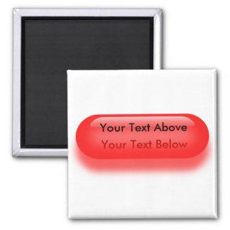 Botón translúcido en imán del botón rojo