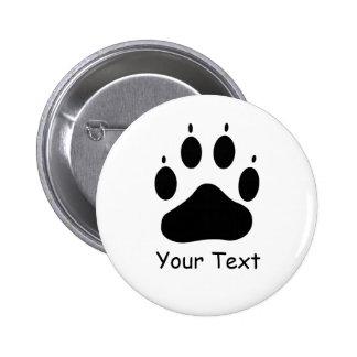 Botón trasero 2 del Pin del cuidado animal de la p