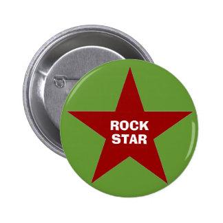 """Botón trasero del Pin de la """"estrella del rock"""""""