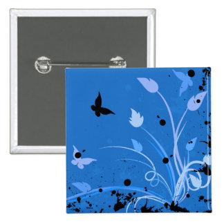 Botón trasero del Pin de la mariposa azul del Grun