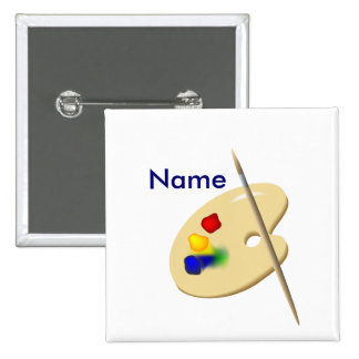 Botón trasero del Pin de la paleta del artista del