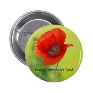 Botón trasero del Pin de veteranos de la amapola r
