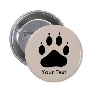 Botón trasero del Pin del cuidado animal de la pis