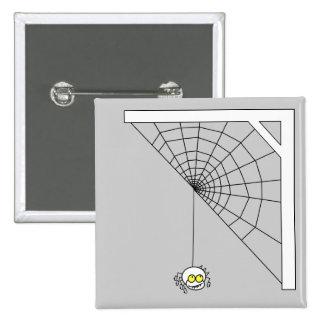 Botón travieso del cuadrado de la araña pins