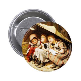 Botón: Tres pequeños gatitos Pin Redondo 5 Cm