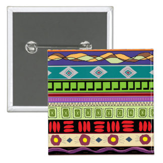 Botón tribal de Mapocho Pin Cuadrado