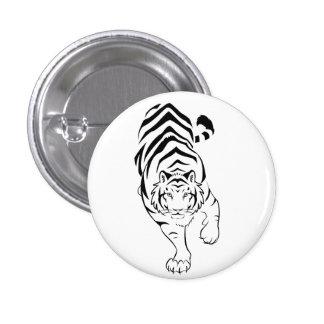 Botón tribal de Pinback del tigre Pins