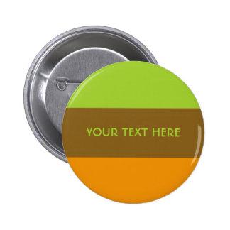 Botón tricolor del personalizado de las rayas pin redondo de 2 pulgadas