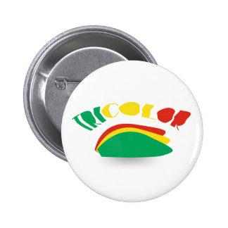 botón tricolor pin redondo de 2 pulgadas