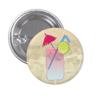 Botón tropical de la bebida pin