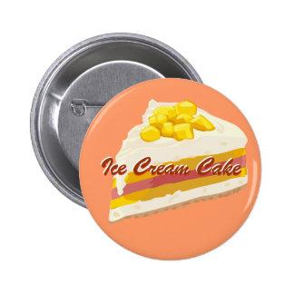 Botón tropical de la torta del helado pin redondo de 2 pulgadas