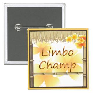 Botón tropical del campeón del limbo de la choza