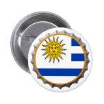 Botón uruguayo de la cerveza pins